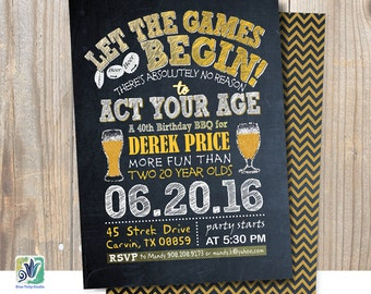 Throwback, Reliving your Youth Party, Backyard, BBQ, Beer Game Party, Chalkboard Theme