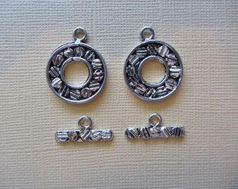 Silver Toggle Clasp 2 sets