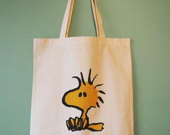 Snoopy's Woodstock Natural Cotton Tote Bag