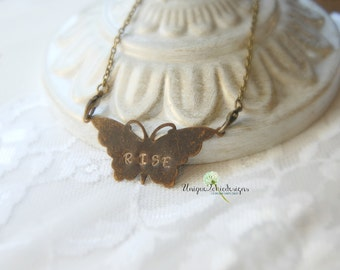 Butterfly Necklace, Steampunk Necklace, Butterfly Jewelry, Butterfly Pendant, Steampunk Jewelry, Unique Gift, Unique Necklace, Antique Style