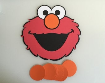 Pin the Nose on Elmo Party Game