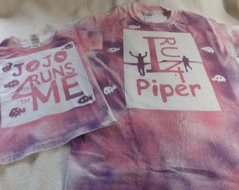 I run 4 buddy and runner personalized color burst tee shirt and baby onesie