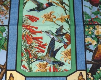 large Spring time and humming birds wall hanging with butterflies