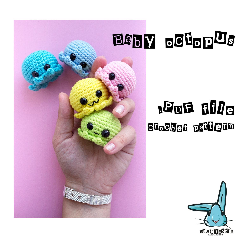 Baby octopus amigurumi crochet pattern. PDF file. DIY. ENG.