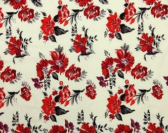 QB75-Vintage Flower Printing Cotton Pinwale Corduroy,21 WALES,Clothing Fabric for Children, Dress,Skirt,BJD clothes,Blythe clothes,1/2 Meter