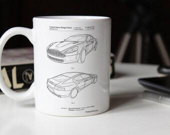 Sports Car Patent Mug, Boys Room Mug, Car Mug, Boys Room Mug, Garage Mug, PP0709