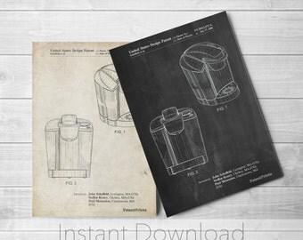 Coffee Brewer Printables, Coffee Decor, Restaurant Wall Art, Apartment Decor, Kitchen Wall Decor, PP0905