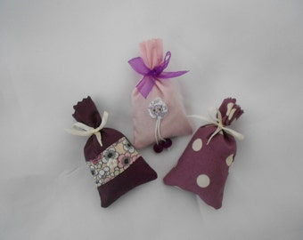 3 mini Lavender sachets of Provence Collection plum