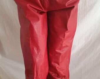 Vintage jaren 80 / jaren negentig rode lederen broek grootte 12