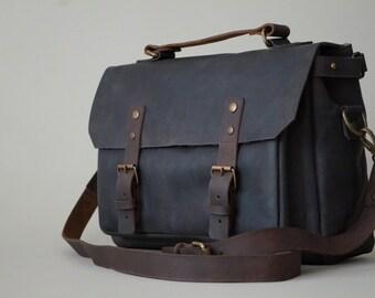 """Leather Messenger Bag (13""""/Chocolate)"""