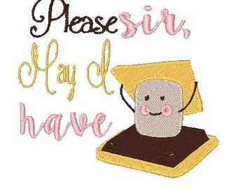 Please sir, May I have s'more embroidery design, Oliver Twist S'more, Sewget2thepoint, Sg2tp embroidery, Smore Embroidery Design, Please sir