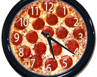 Pizza Themed 10 Inch Wall Clock