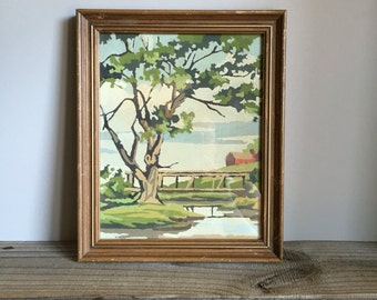 Vintage Paint by Number Painting - Vintage Art / Vintage Painting