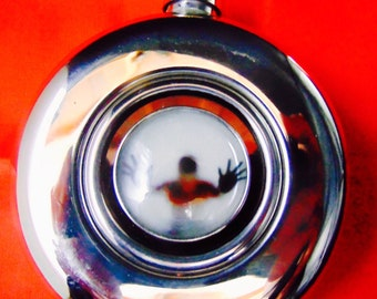 Stainless Steel Round Flask Steampunk Coatume
