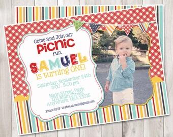 Picnic Birthday Invitation