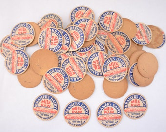 Ramdom Pick of One (1) Kramer's Dairy Milk Cap South Weymouth, Massachusetts, Bottle Cap Lid