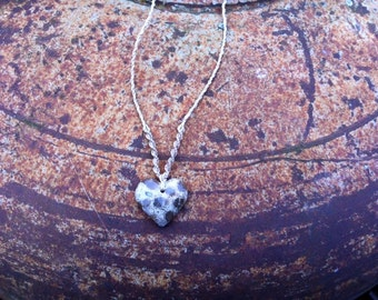 Sweetheart Heart Fossil mexican Coral Necklace