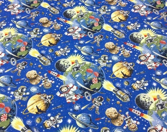 Patchwork Quilting Fabric Nutex Space Odyssey 102 Astronauts
