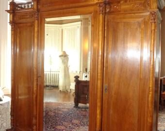 Antique Victorian 7 PIECE Bedroom Set Outstanding! All ORIGINAL Huge Armoire!