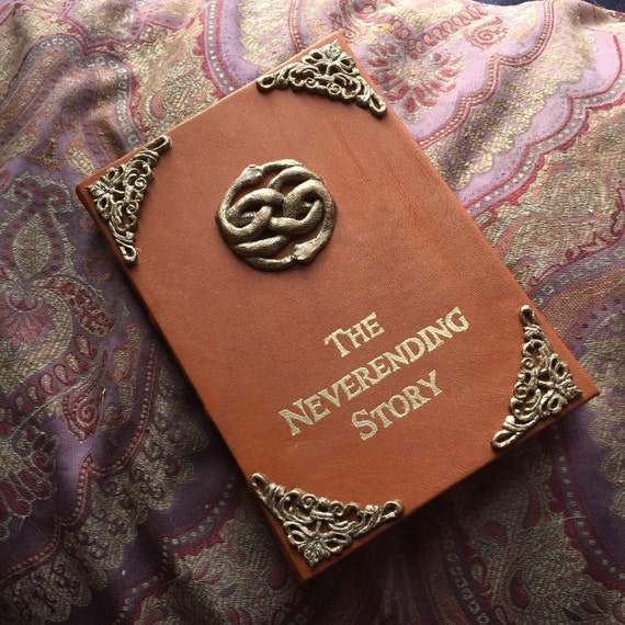 "Neverending Story Leather Book Cover for 6""-8"" Tablets (kindles, iPad mini, etc.)"