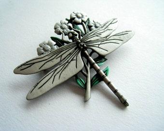 Brooch Dragonfly vintage 80