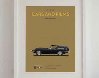 Harold and Maude car movie poster, art print A3 Cars And Films, home decor prints, illustration poster, car poster
