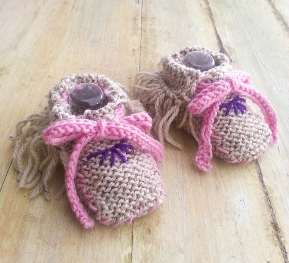 KNITTING PATTERN Baby Moccasins Moccasin Booties Girl