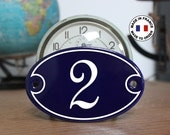 """French enamel house number sign 4"""" x 6"""" *made to order*, genuine french enamel sign / address plaque / Vintage french decoration"""