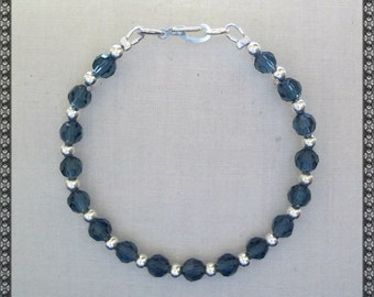 denim blue bracelet, blue bracelet, denim, denim blue, blue , dark blue