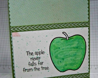 The Apple Never Falls Far From The Tree... Greeting Card