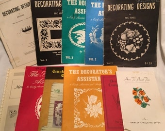 Lot of 11 Decorating Books (Paint Tin, Decorate Country Tin, Early American, Trunks, Modern, Mediterranean
