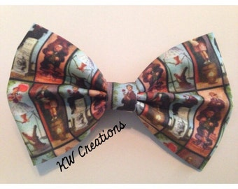 Disneyland-Inspired Haunted Mansion Stretching Portraits Fabric Hair Bow