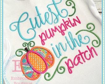 Cutest pumpkin in the Patch......Onesie/Shirt