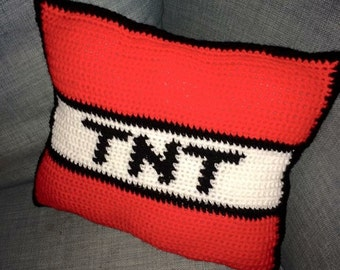 Minecraft TNT cushion