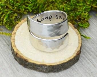 Just Keep Swimming Wrap Ring - Twist Ring