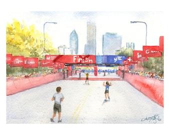 Chicago Marathon Finish Line - PRINT