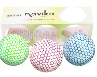 Polka Dot Golf Balls (Green, Purple, Blue)- Sleeve of 3