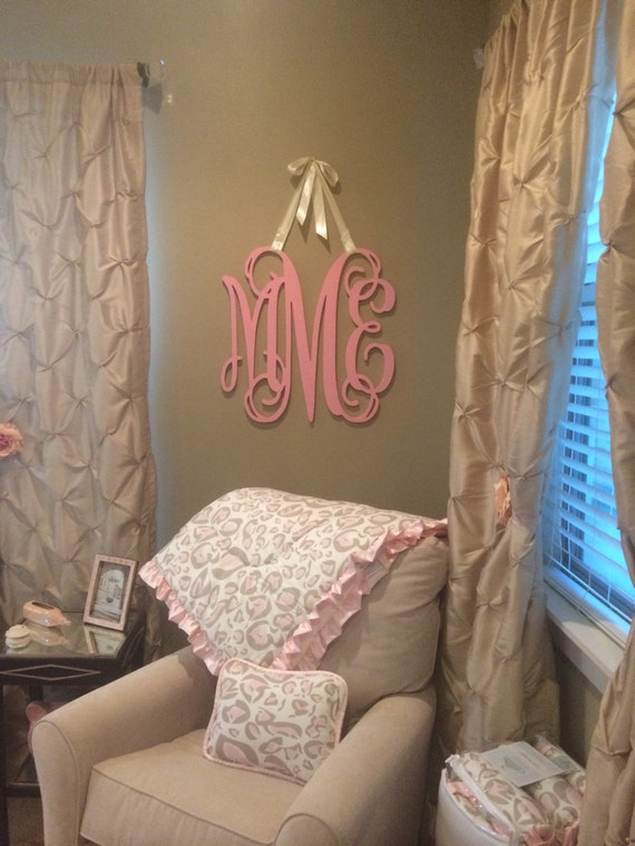 Wooden Monogram Painted Wooden Letters  Nursery Decor