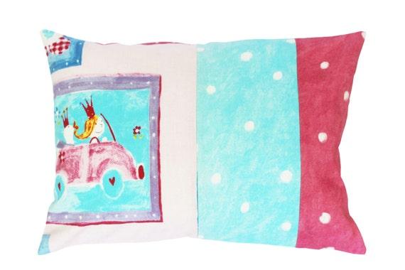 Decorative Princess Pillows : Childrens pillow Princess pillow Polka dot pillow Print