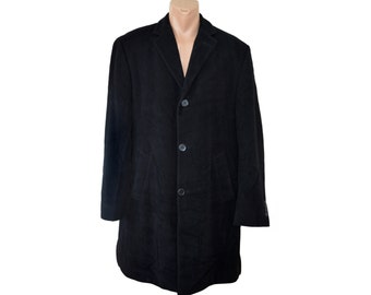 Vintage J. Philipp Germany men black coat 100% new wool Australian Finest Wool