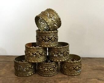 Brass Napkin Ring Set