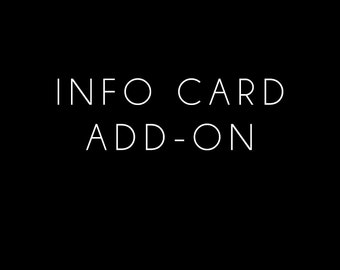 Information Card Add-On Option