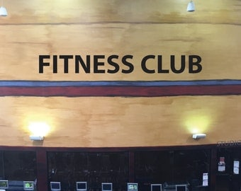 FITNESS CLUB Wall Decal, Gym Wall Decal