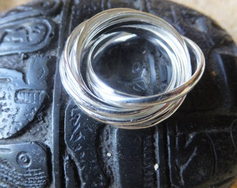 Sterling Silver Rolling Bands Ring....Size 8 only