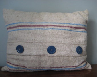 Vintage Grain Sack Cushion