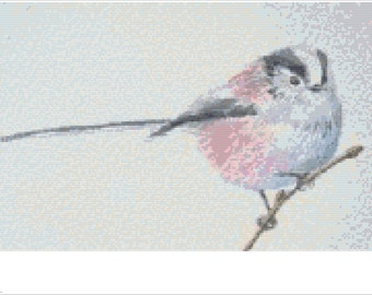 Long Tailed Tit Cross Stitch Chart PDF