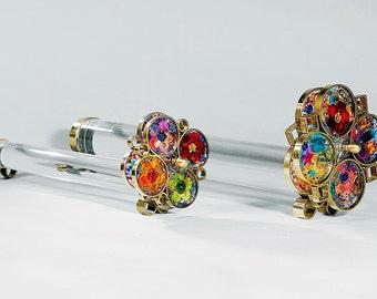 Small Flower Tunnelscope, Transparent Kaleidoscope, Hostess gift