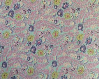 Tula Pink Eden Wildflower Orchid. Quilters cotton, patchwork fabric, modern colours