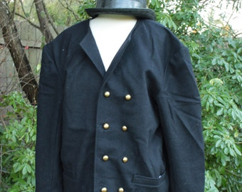 Napoleonic/18th Century Sailor's Double Breasted Navy Blue Jacket