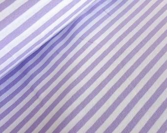 Striped jersey purple white - 0.5 m metre